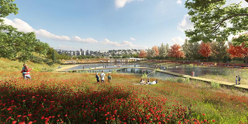 הדמיה אדריכלות נוף / הדמיה לפארק / הדמיה לתכנון פארק / הדמיה ממוחשבת