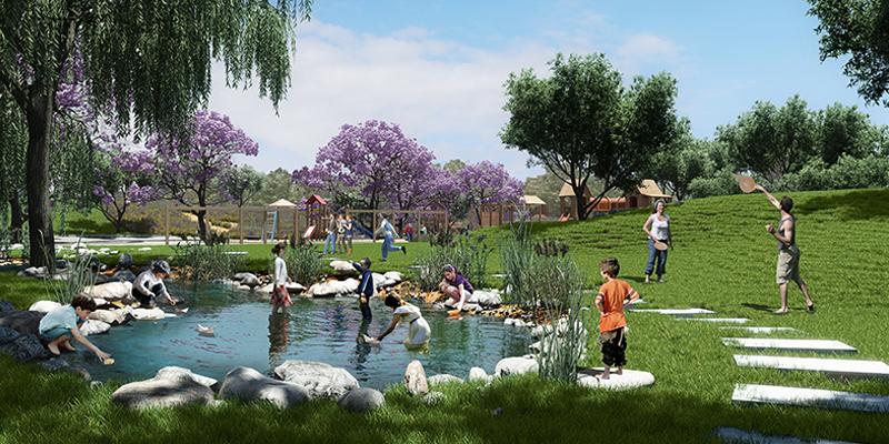 3d landscape architecture visualization savion park project